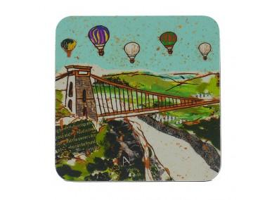Emmeline Simpson Coaster - Balloons Over the Bridge