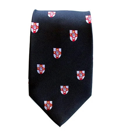 Crested Tie Black