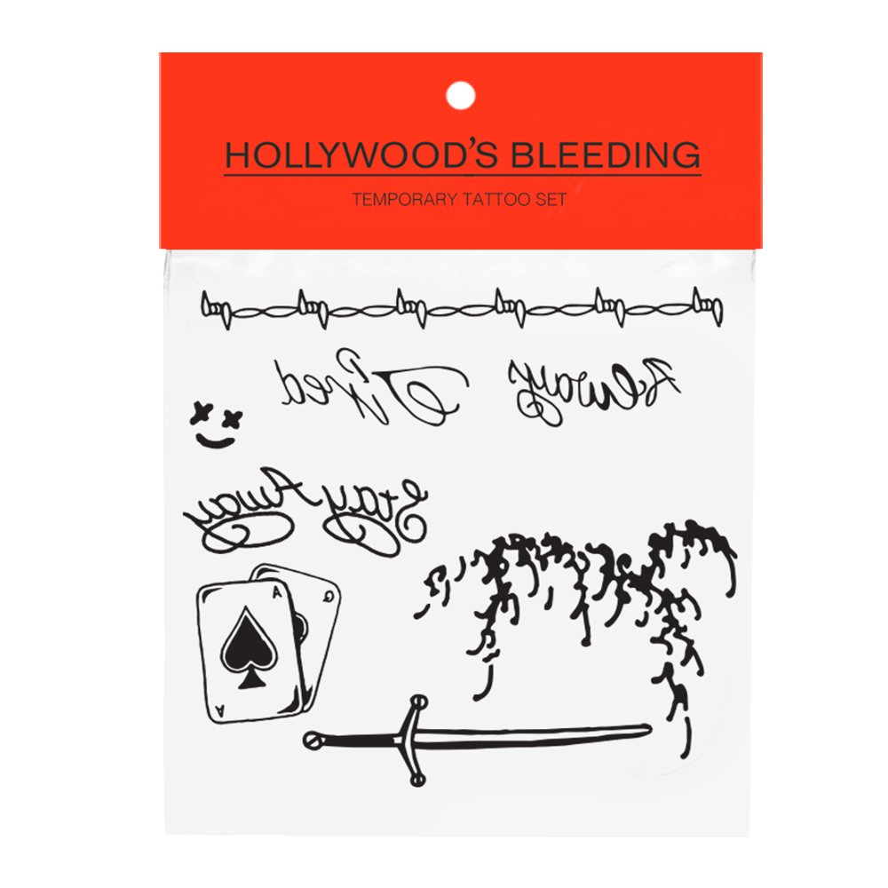 Hollywood's Bleeding Face Tattoo Pack + Digital Album by Post Malone