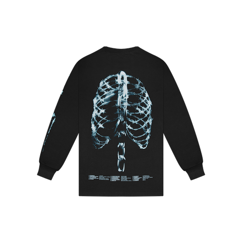 SKELETON X-RAY L/S T-SHIRT