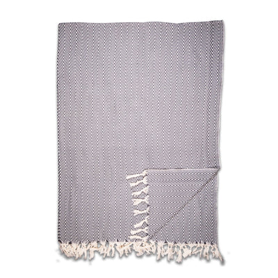 The Manolia Blanket in Charcoal