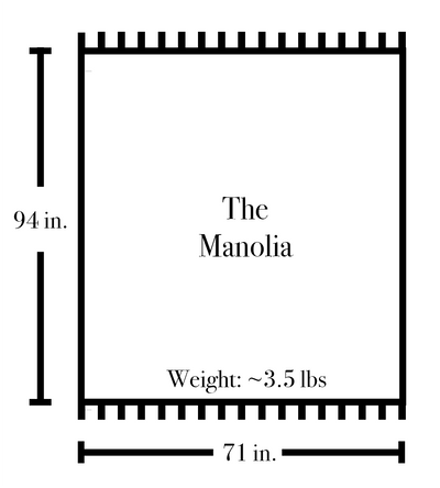 The Manolia Blanket in Stone