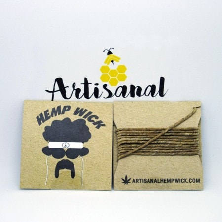Canadian Hemp Wick Afro- 10 feet of  Canadian Hemp Wick?! Why not! These are great if you enjoyed the 3.5 foot wicks. Save your lungs by using these All Natural Canadian Hemp Wick.