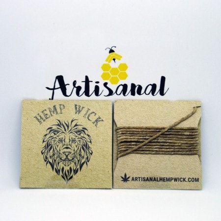Canadian Hemp Wick Lion- 10 feet of  Canadian Hemp Wick?! Why not! These are great if you enjoyed the 3.5 foot wicks. Save your lungs by using these All Natural Canadian Hemp Wick.