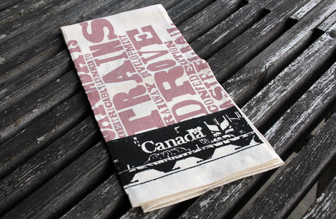 Canadian Railcar Tea Towel - The Hemp Spot