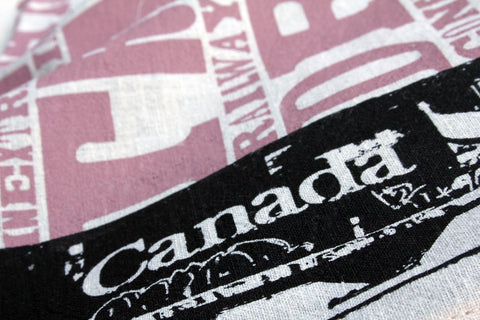 Canadian Railcar Tea Towel is made out of 100% Canadian Hemp. Some of the best looking Canadian Hemp Fabric around!