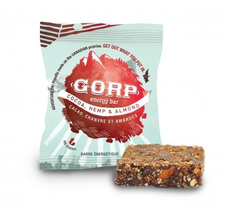Your perfect protein bar!This GORP bar is Cocoa, Hemp & Almond flavored and is an amazing, healthy snack for the whole family.