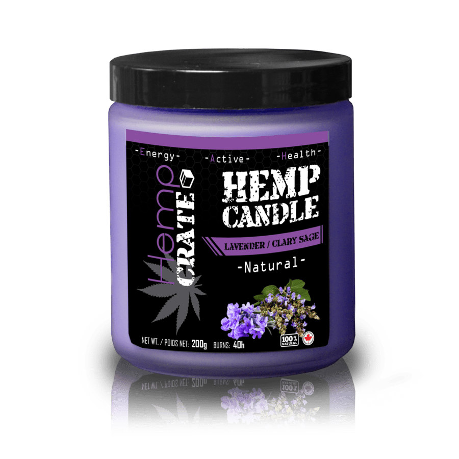 Hemp Candle- Lavender and Clary Sage - The Hemp Spot