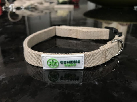 Our hemp dog collars are soft, durable, and naturally anti-bacterial. Made from 100% organic hemp without any chemical dyes or additives. A great choice for your four-legged friend.