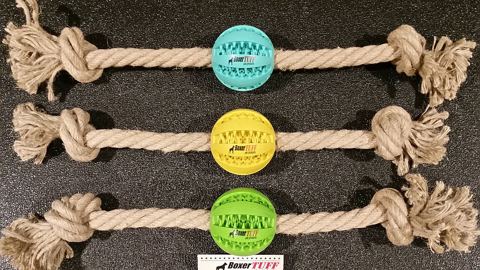 Hemp Rope Tug- Baseball (2 Sizes) - The Hemp Spot