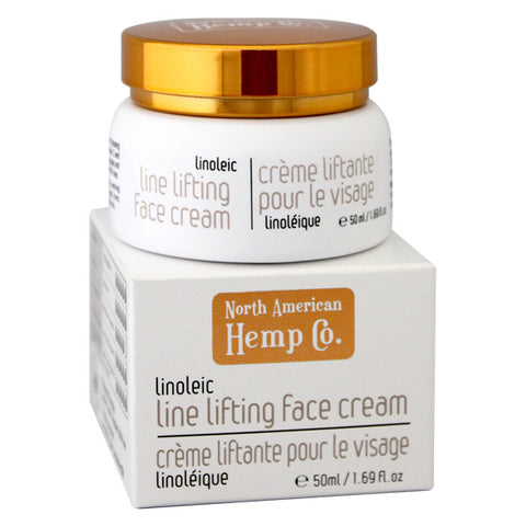 Our Linoleic Line Lifting Face Cream is a top seller! Hemp seed oil helps slow down signs of aging. Our all natural line lifting face cream is made with certified organic Canadian hemp seed oil.