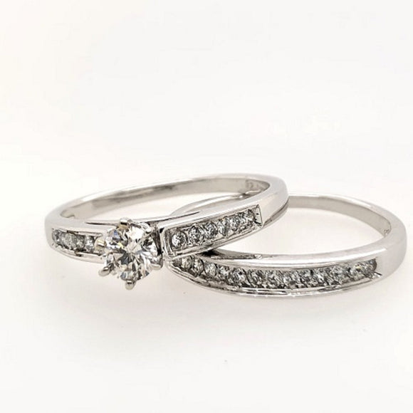 18Ct White Gold Bridal Set