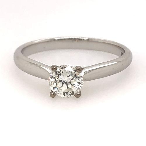 18ct White Gold .50ct GH/Si Diamond