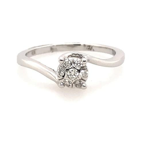 10Ct White Gold Solitaire
