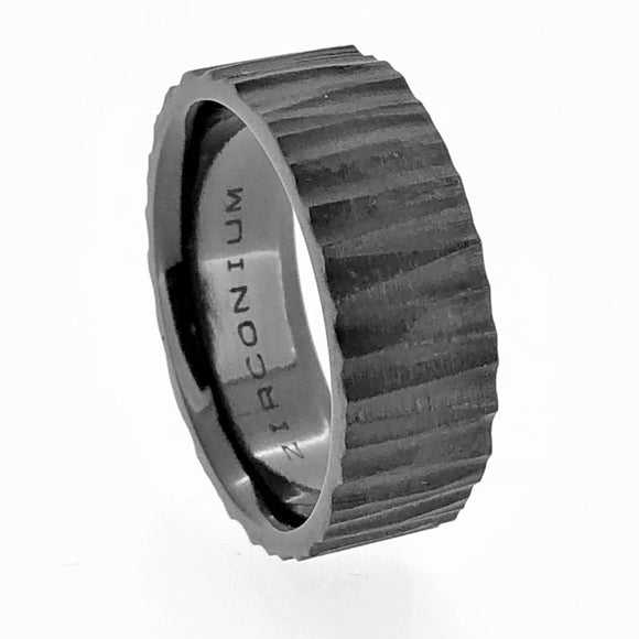 Zirconium Ring Bark Finish