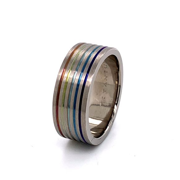 Titanium 5 Colour Anodised Band