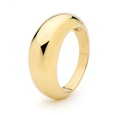 9ct Yellow Gold Dome Ring