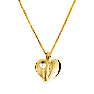 9ct Yellow Gold Plain Heart Pendant
