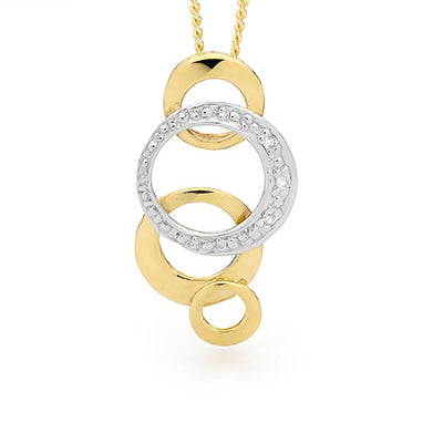 9ct Yellow Gold Circle Pendant