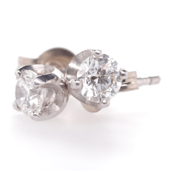 18ct White Gold Diamond Stud Earings D Si1 TDW .50ct