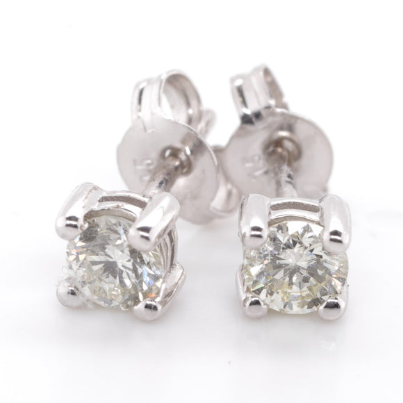 9ct White Gold Diamond Stud Earings 2=50 Pq1i/J