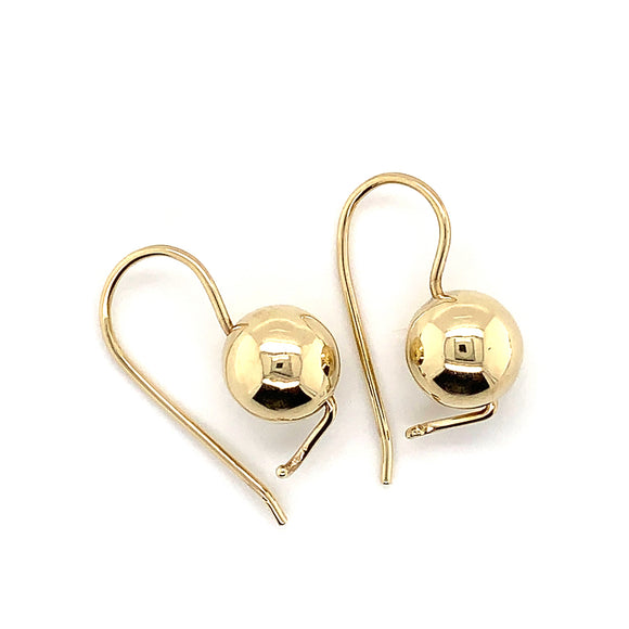 9ct Yellow Gold 10mm Euro-Balls