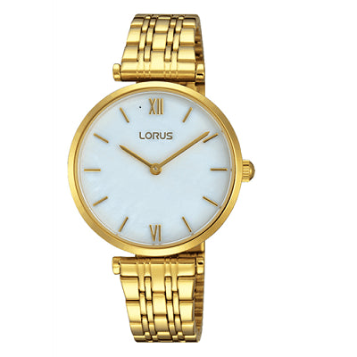 Lorus Womans Gold Band Dress Watch
