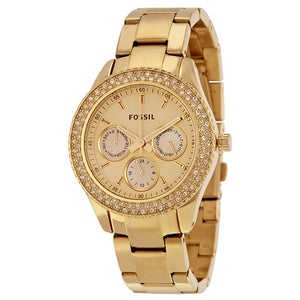 Fossil Stainless Steel Gold Plated Chronograph W/R