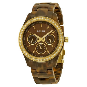 Fossil Chronograph Brown/Gold W/R