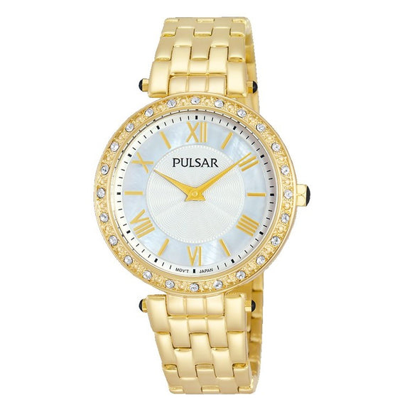 Pulsar Ladies Gold Plated Dress Water Resistant