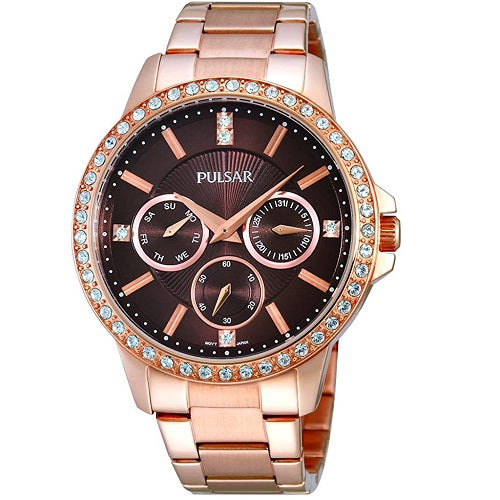 Pulsar Ladies Dress Rose Gold Plated Water Resistant Mid Size 40mm Case