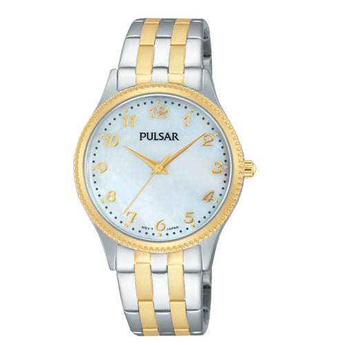 Pulsar Ladies Dress Gold Plated 2 Tone Water Resistant