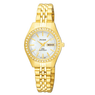 Pulsar Ladies Gold Plated 50M Water Resistant