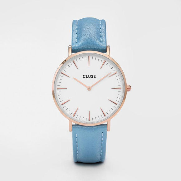 Cluse La Boheme Rose Gold White Blue