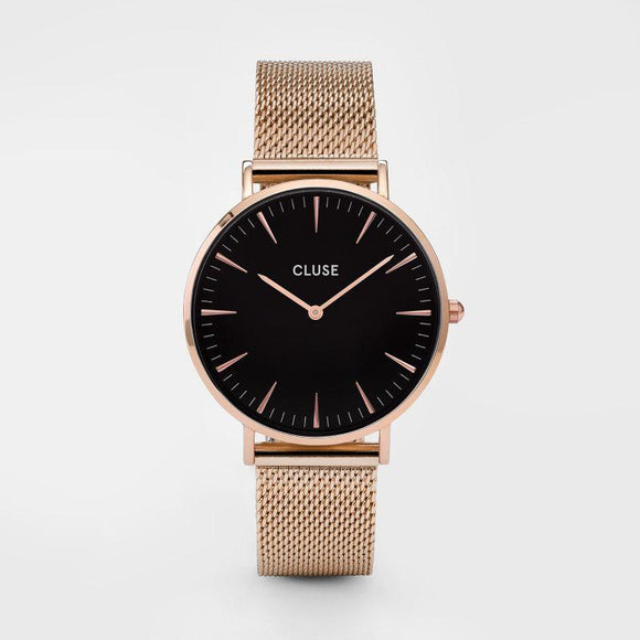 Cluse La Boheme Mesh Rose Gold Black