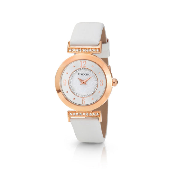 Isadora Altea Rose Gold White Strap