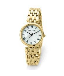 Isadora Alora Gold Plated Mother of Pearl Dial Roman