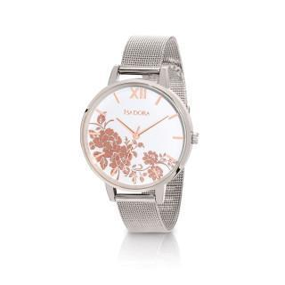 Isadora Andorra Stainless Steel Mesh Roses Rose Gold