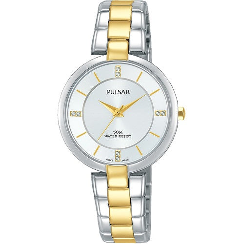 Pulsar Ladies Dress 50M Water Resistant Gold Plated 2 Tone