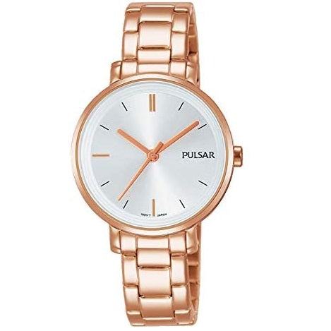 Pulsar Ladies Rose Gold Plated Stainless Steel Water Resistant