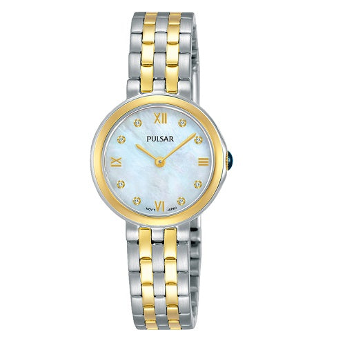 Pulsar Ladies Dress Water Resistant Stainless Steel Gold Plated