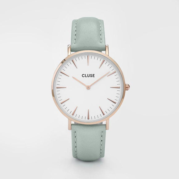 Cluse La Boheme Rose Gold White/Pastel Mint