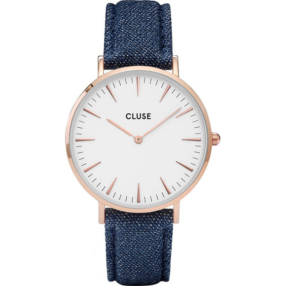 Cluse La Boheme Roose Gold White Denim