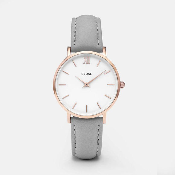 Cluse Minuit Rose Gold White/Grey