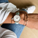 Cluse Minuit Rose Gold Whiote/Pastel Mint
