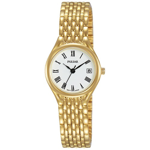 Pulsar Ladies Gold Plated Stainless Steel Water Resistant
