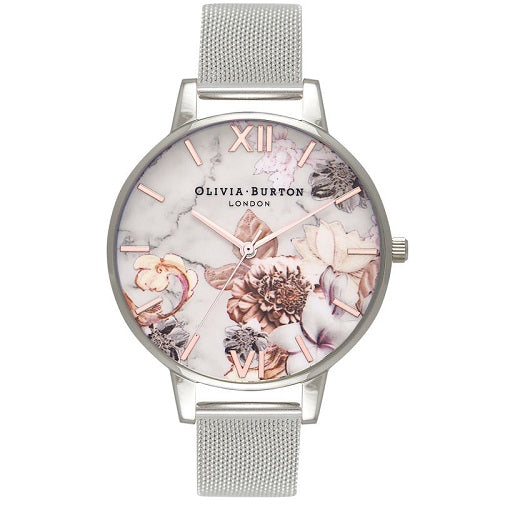 Olivia Burton Floral Silver Case And Band