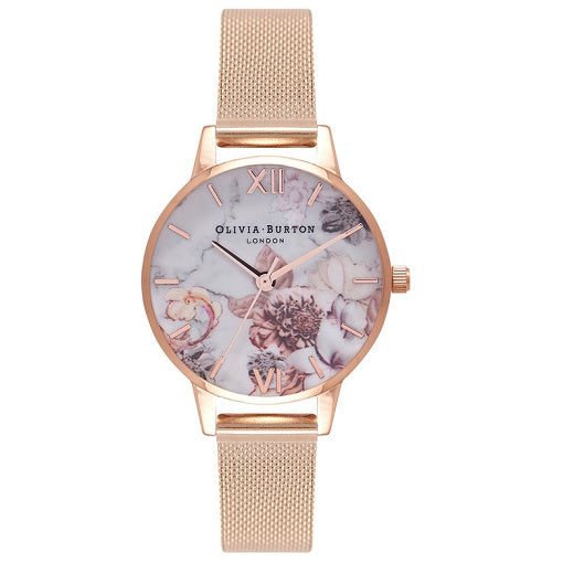Olivia Burton Floral Rose Gold Coloured Case and Strap