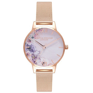 Olivia Burton Floral Gold Coloured Case and Strap