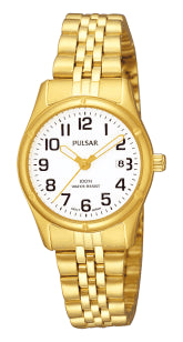 Pulsar Ladies 100M Water Resistant Gold Plated